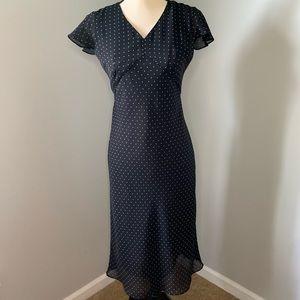 Black polka dot dress from LOFT